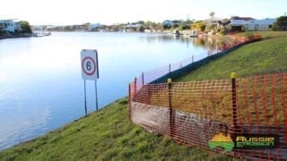 Silt Fence and Safety Barrier Fence