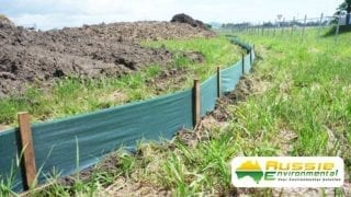 sediment control barrier installation