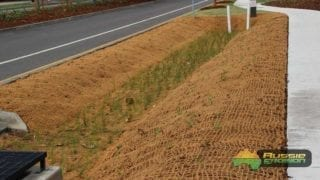 coir mesh, retention basin, coco mesh