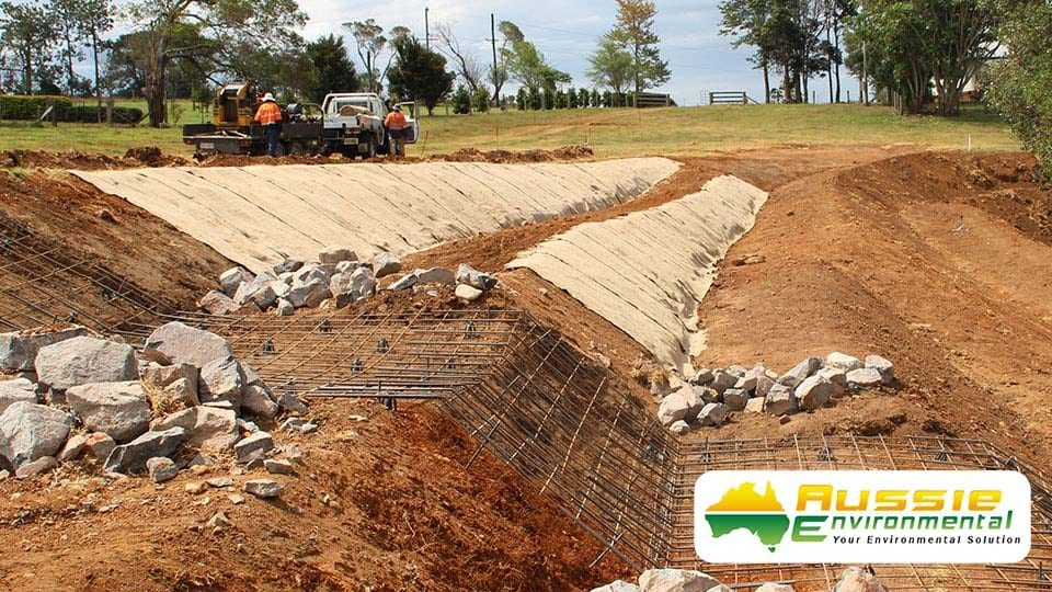Jute Mat Install By Aussie Environmental