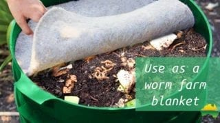 Use as a worm farm blanket