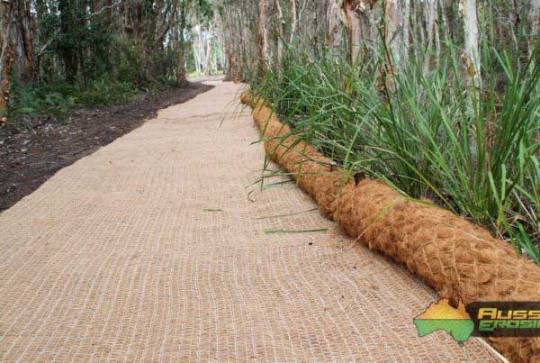 coir logs, eco log, jute netting