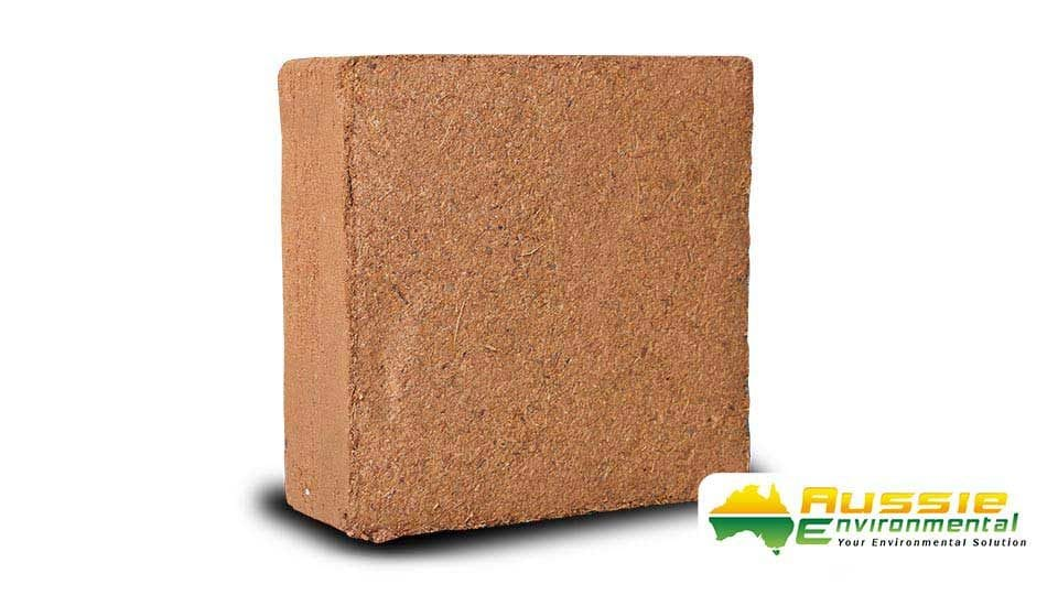 Coir Mulch Block Product Shot 5kg Brick