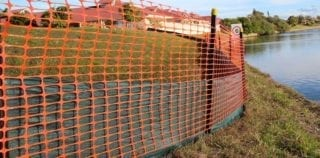 Silt Fence Installation with Safty Barrier