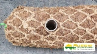 Coir Log Pre Drilled Hole For Easy Installation