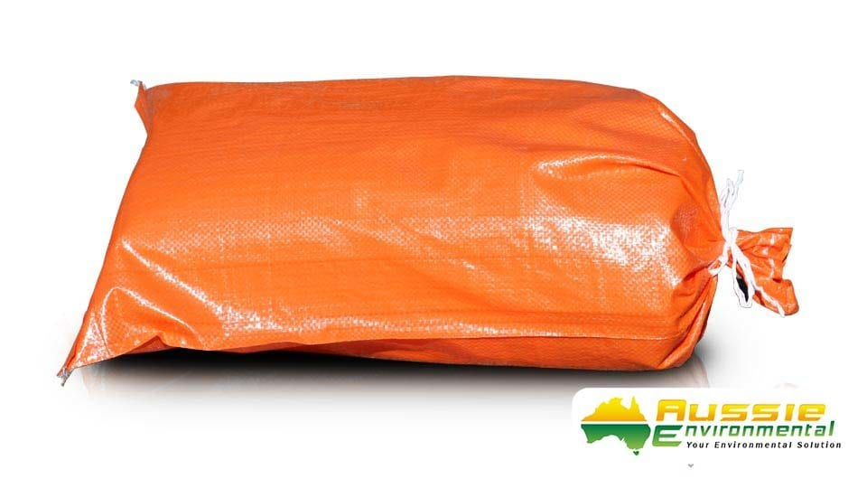 Hi-Vis Orange Sand Bag Products From Aussie Environmental