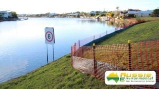 Installed Silt Sediment Safety Barrier Fence
