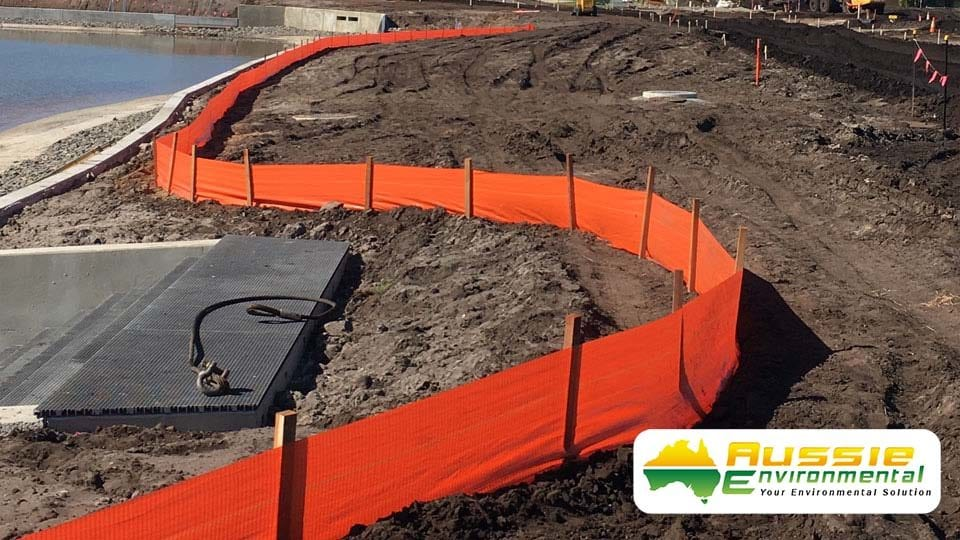 Silt Fence Installation on Construction Site