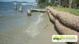 Coir Log Wall Bank Protection