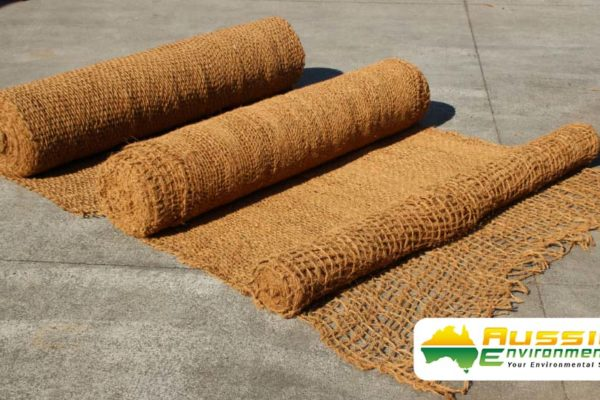 Coir Mesh Rolls Showing 400gsm, 700gsm, 900gsm Gades For Erosion Control