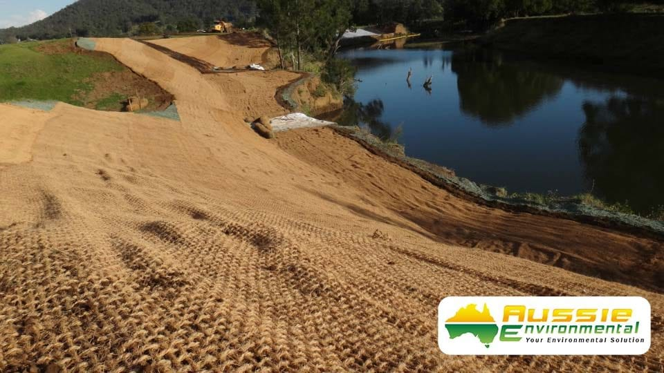 Coir Mesh 700gsm Over hydromulch