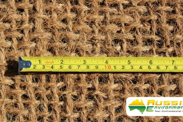 Coir Mesh 900gsm Weave Size Close Up Shot