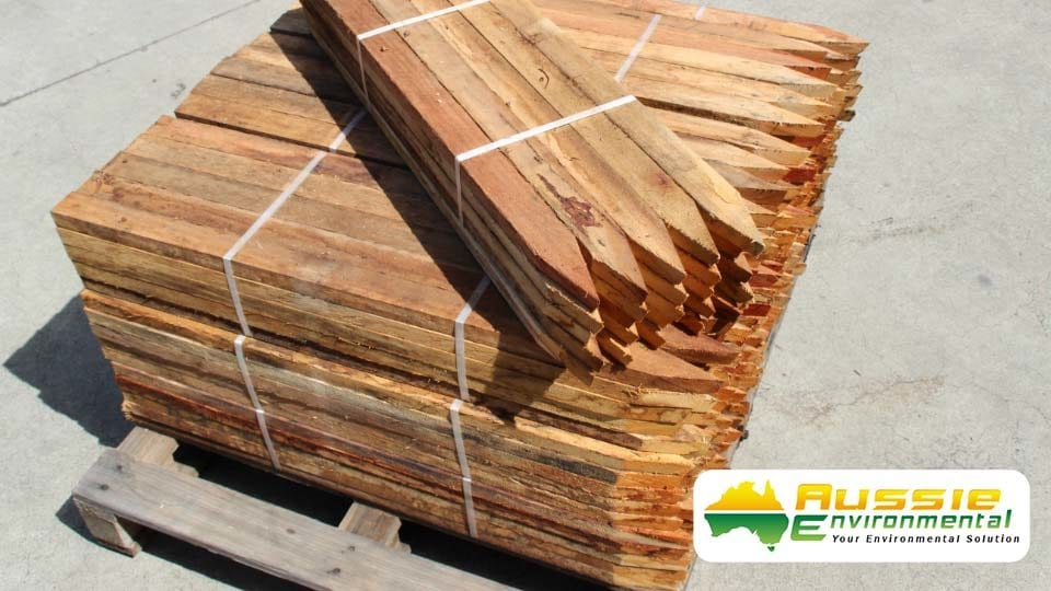aussie erosion hardwood timber pegs 900mmx50mmx25mm 1
