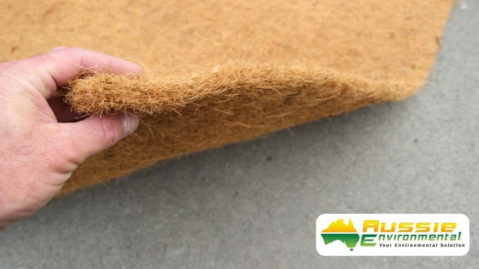 Erosion Control Products Coir Blanket 1000gsm Close Up Shot