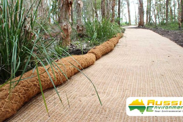 Coir Logs Installation