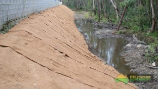 Coir Blanket installation2