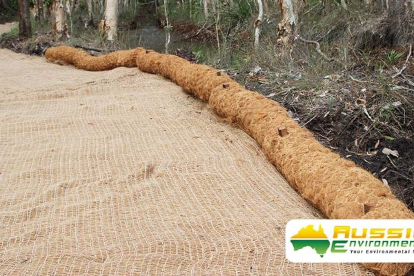 Coir Log installation 1 1