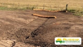 Coir Log Installation For Swale Drain