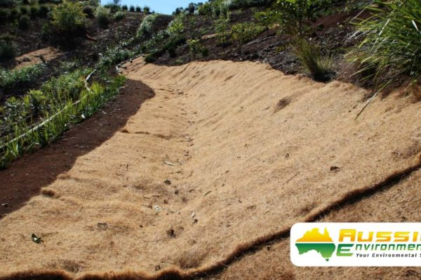 Coir Blanket Installation For Erosion Control From Aussie Environmental