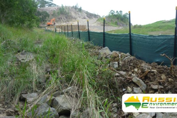 Heavy Duty Silt Fence Installation On-site