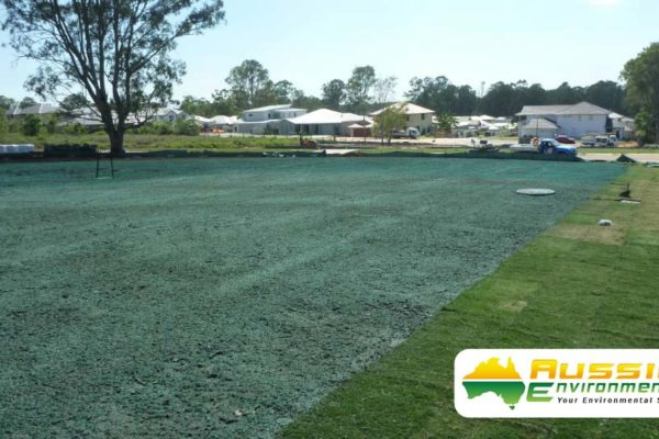 Hydromulch, Hydroseeding Brisbane Queensland Subdivision From Aussie Environmental