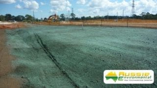 Hydromulching / Hydroseeding Application On Construction Site From Aussie Environmental