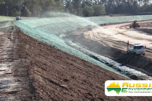 Hydromulching / Hydroseeding Batter Application From Aussie Environmental