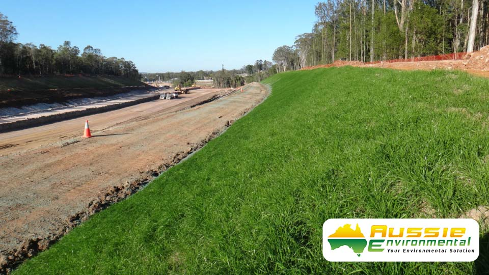 Hydromulching Rail Project Growth Results for Erosion Control from Aussie Environmental
