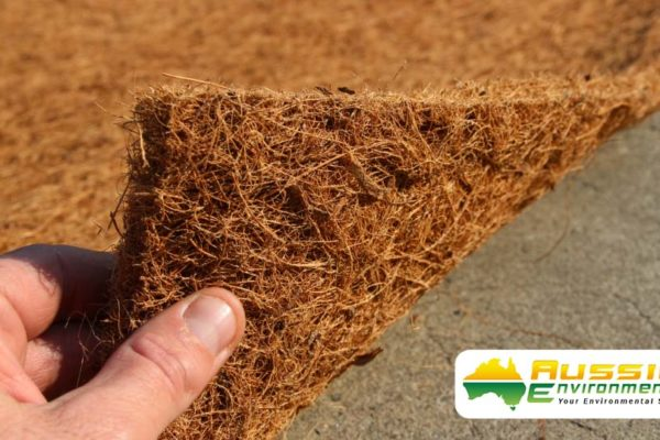 Erosion Control Blanket Coir Blanket 1000gsm Latex Sprayed 100% Biodegradable From Aussie Environmental