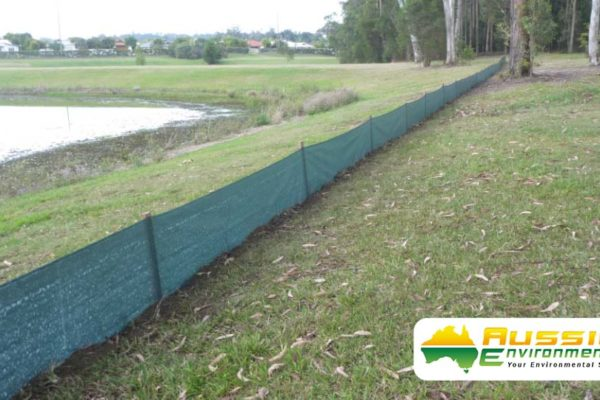Silt Fence Installation Grass land