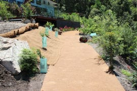 Coir Blanket Installation for Garden Landscaping Project