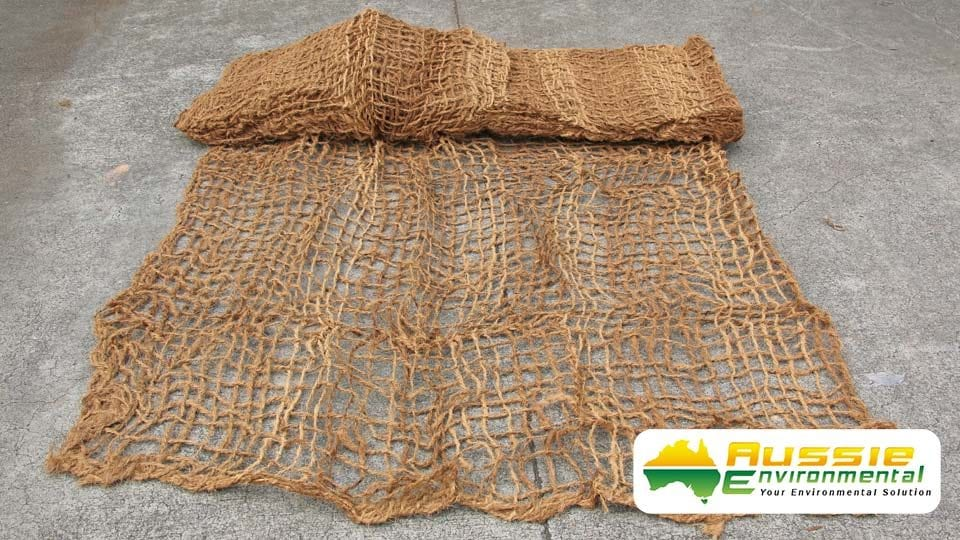 400gsm Coir Mesh Brick Unfolded