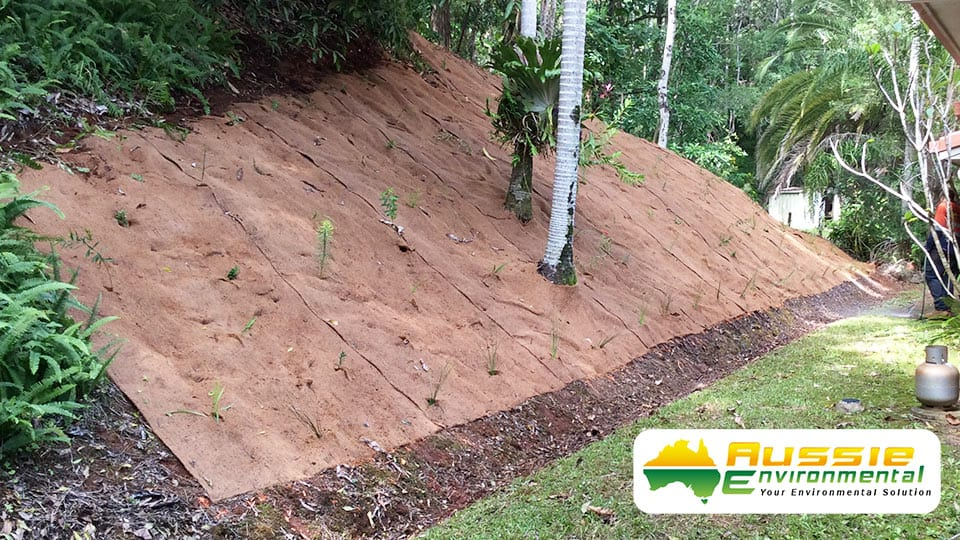 Coir Blanket 1m X 10m 1000gsm Latex Sprayed Erosion