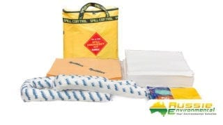 Oil and Fuel Spill Kit Contents with bag
