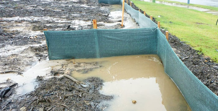 Water siltfence