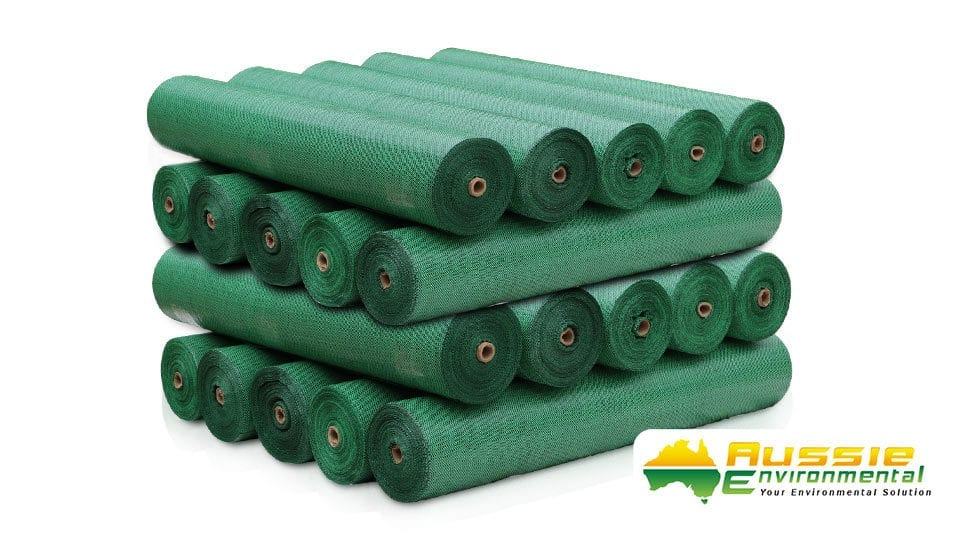Green Silt fence rolls