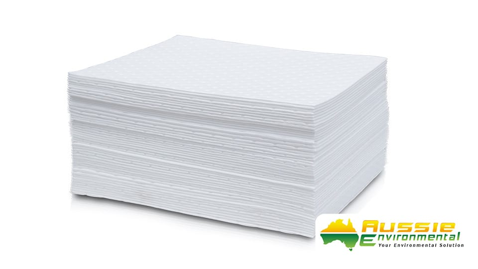 Absorbent Oil Spill Control 50 Pads Aussie Environmental