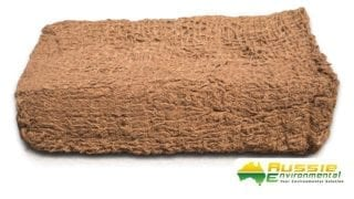 Coir Mesh Brick 900gsm for erosion control bank stabilisation