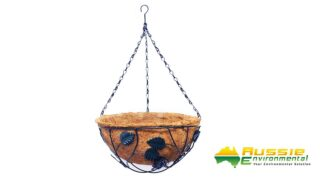 Coir Wall Baskets with metal chain 1