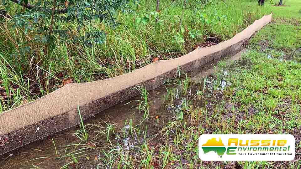 Biodegradable Silt Fence Jute Geotextile Silt Barrier Sediment Fence 2