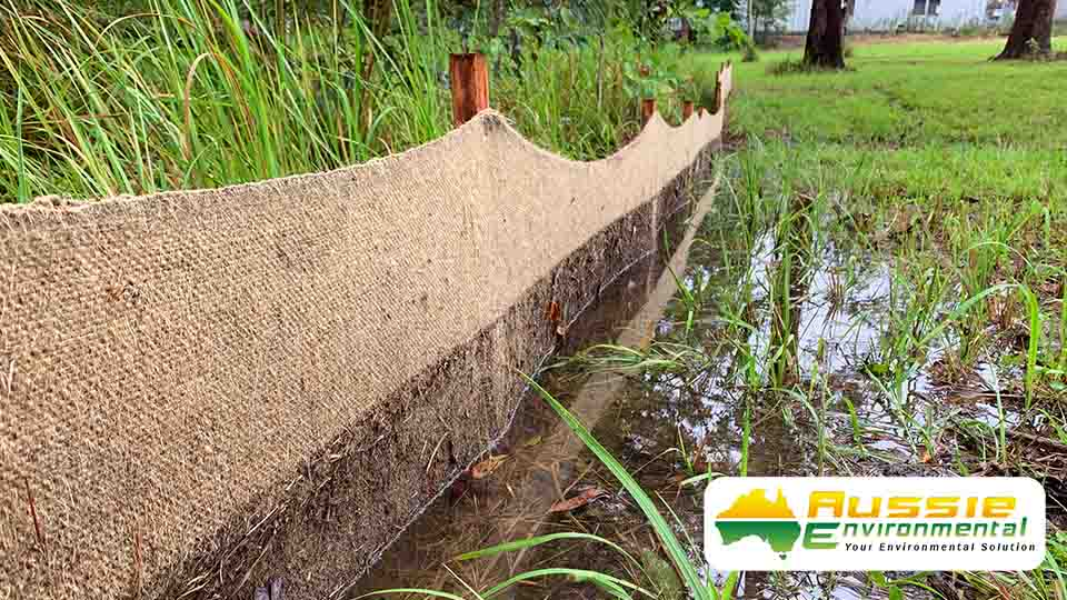 Biodegradable Silt Fence Jute Geotextile Silt Barrier Sediment Fence Filter