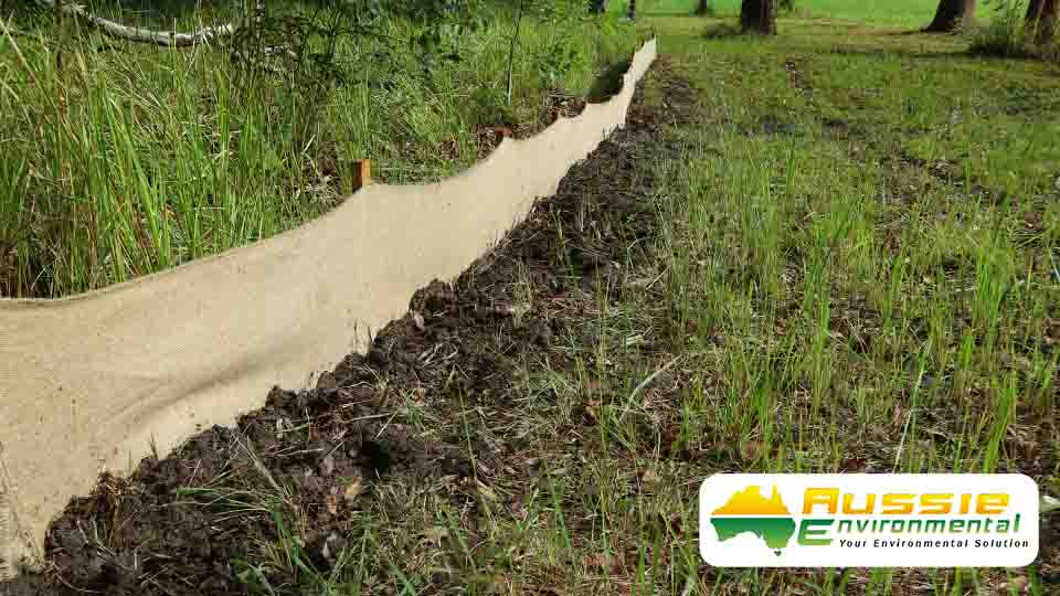 Biodegradable Silt Fence Jute Geotextile Silt Barrier Sediment Fence