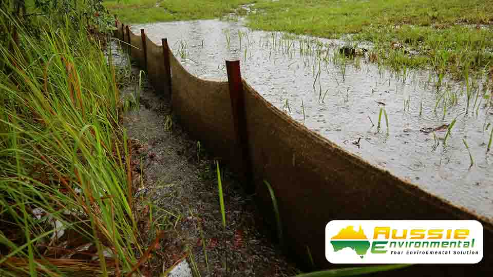 Biodegradable Silt Fence Silt Barrier Sediment Fence