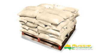poly sandbags pallet flood control water diversion