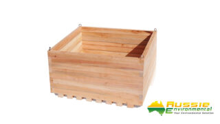 Wooden Pot Square Extra Large